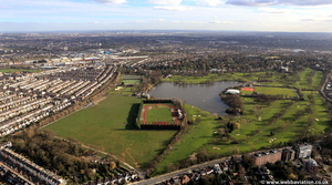 Wimbledon Park from the air