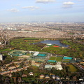 Wimbledon  London England UK aerial photograph