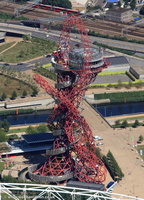 ArcelorMittal Orbit in Stratford, London from the air