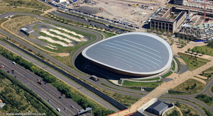 Lee Valley VeloPark London from the air