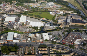 Mill Meads Londonn from the air