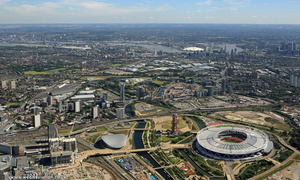 Queen Elizabeth Olympic Park, London from the air