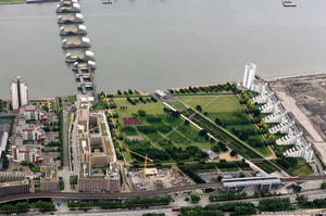 Thames Barrier Park from the air