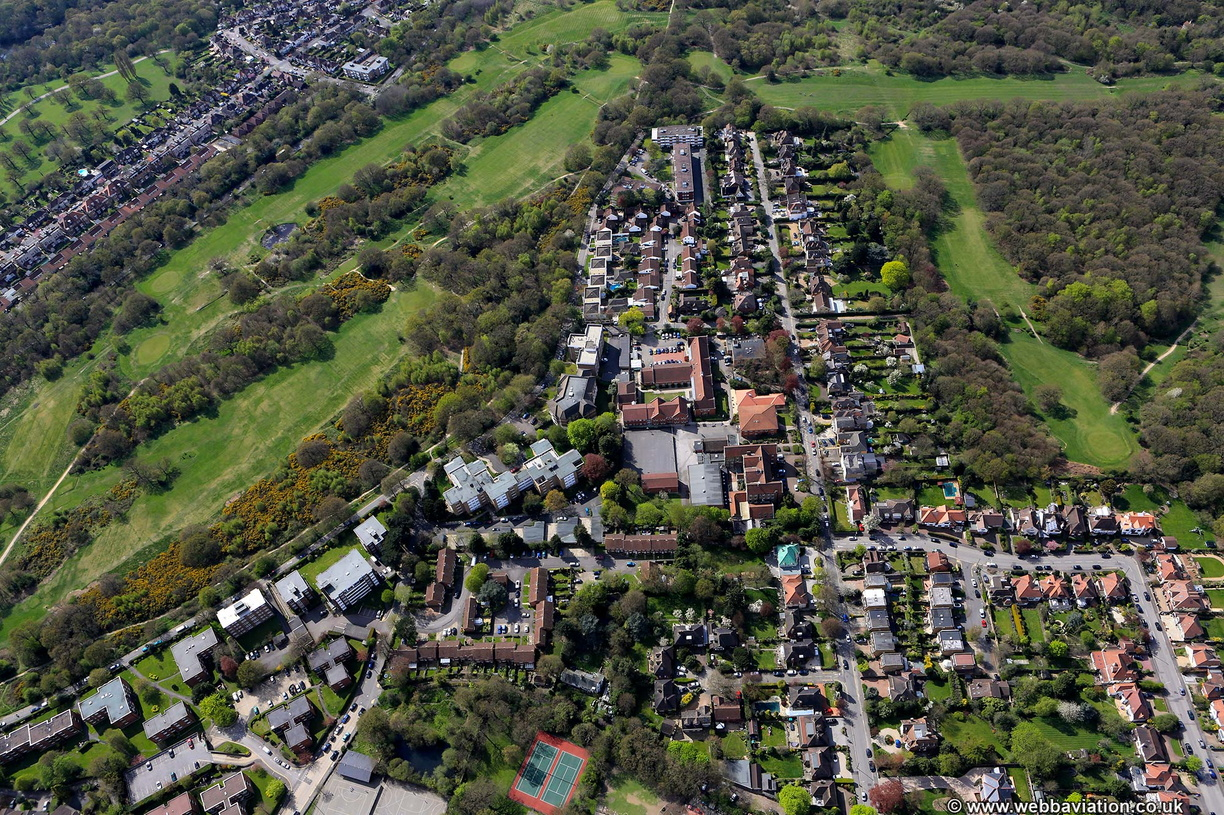 Mornington Rd,  Woodford Green,Redbridge  from the air