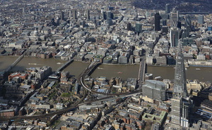Bankside  Southwark Londonfrom the air