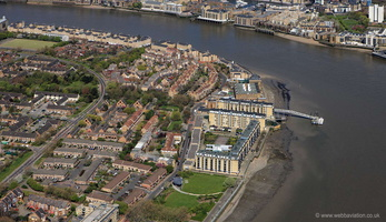 Cuckold's Point Rotherhithe London from the air