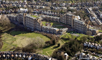 Dawson's Heights housing estate  East Dulwich London from the air