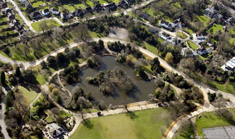 Dulwich Park London from the air
