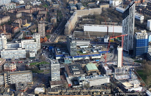 Elephant & Castle Shopping Centre London from the air