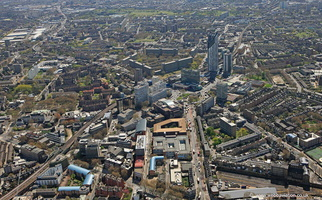 The Elephant and Castle  London  from the air