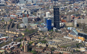 the Elephant & Castle London SE1  from the air