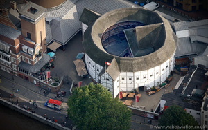 Globe Theatre London England UK aerial photograph