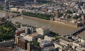St Thomas' Hospital London UK  from the air