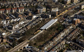 Nunhead railway station in  London  from the air
