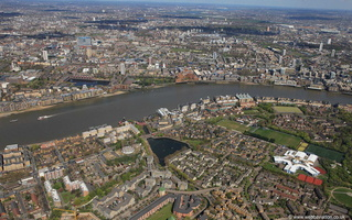 Rotherhithe London England UK from the air