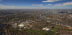 Southwark London from the air