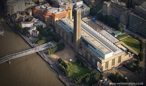 Tate Modern  art gallery  London England UK aerial photograph