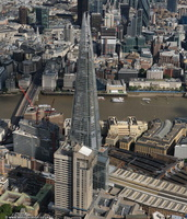 the Shard London from the air
