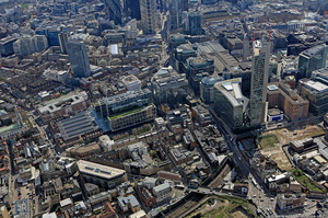 Commercial Street Tower Hamlets London England UK aerial photograph