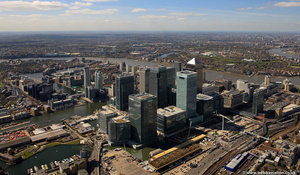 Canary Wharf  London Docklands  from the air