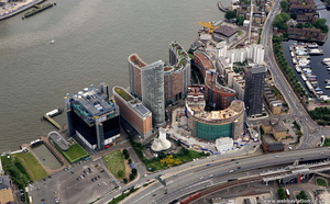 Ontario Tower & New Providence Wharf  Blackwall London  from the air