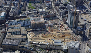 Goodmans Fields development at the start of construction London from the air