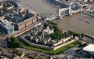 Tower of London Tower Hamlets London England UK aerial photograph