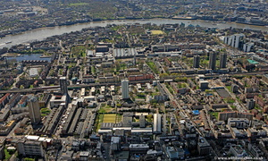 Shadwell Tower Hamlets London England UK aerial photograph