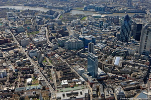 Spitalfields London from the air