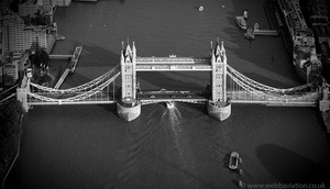 Tower Bridge London England UK aerial photograph