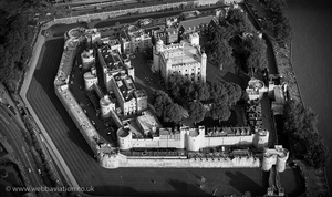 Tower of London  England UK aerial photograph