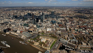 Tower Hamlets London England UK aerial photograph
