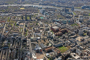 Whitechapel  Tower Hamlets London England UK aerial photograph