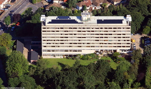 Enterprise House Chingford  from the air