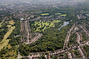 Highams Park Waltham Forrest  London England UK aerial photograph