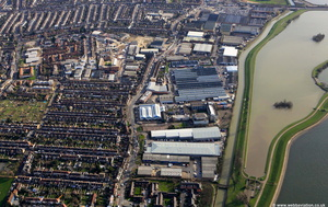 Uplands Business Park  Blackhorse Lane London E17  from the air