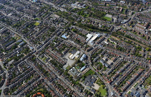 terraced houses Walthamstow from the air