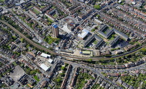 Wood Street railway station ,Walthamstow from the air