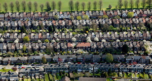 houses in Waltham Forest aerial photo