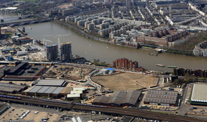 Nine Elms area Wandsworth from the air