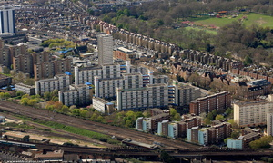 Doddington and Rollo Estates Wandsworth   from the air
