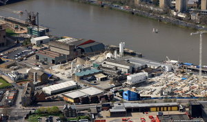 Cringle Dock area  Wandsworth from the air