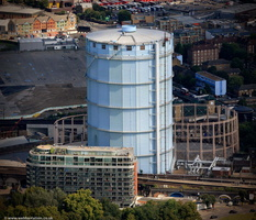 Battersea gasometer from the air