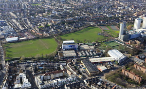 King George's Park Wandsworth   from the air