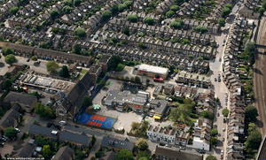 John Burns Primary School, Wandsworth  from the air