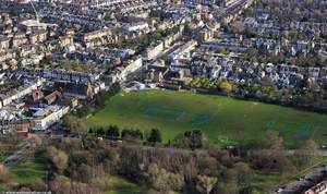 Sir Walter St Johns Sports Ground Wandsworth from the air