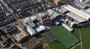 Southfields Academy  Wandsworth from the air