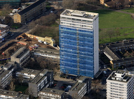 Sporle Court , Winstanley Estate  from the air