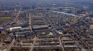 Victoria area of London aerial photo