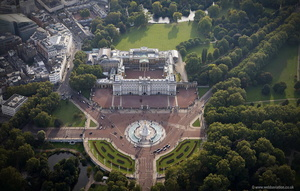 Buckingham Palace Westminster London England UK aerial photograph